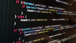 html code on computer screen